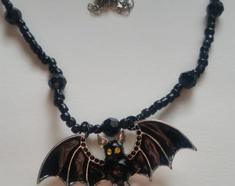 Yellow Eyed Bat Necklace