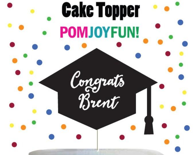Graduation Cake Topper, Personalized Graduation Cake Topper Custom Graduation Cake Decoration Custom Name Class 2018