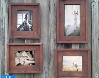 Gallery Wall(All Finishes) -Includes 3- 8.5x11 Frames & 1- 11x17 Frame - The Loft Signature Quality Handmade Rustic Barn Wood Frame