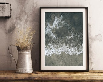 Ocean Texture 1 Print | Nature Photography Ocean Art Wall Decor Waves Sand
