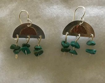 Silver with Turquoise Earrings