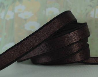"3yds Elastic Satin 3/8"" Dark Brown Bra Making Supplies Shiny Stretch bands Headband Bra Strap Lingerie elastic"