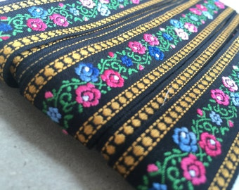 Vintage 70s Ribbon: Tyrolean costume Braid 2, 4cm x 1.00 m/1 yards