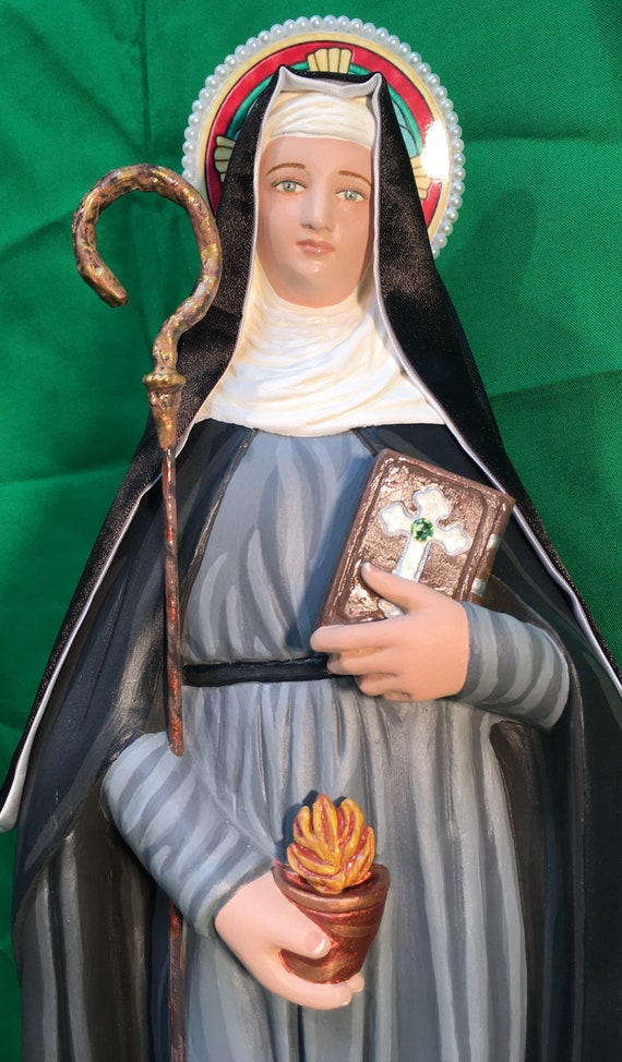 "St. Brigid of Kildare 18"" Patroness of Ireland, dairymaids, cattle, midwives, Irish nuns, and newborn babies"