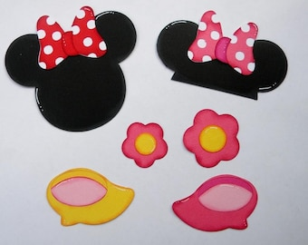 CraftECafe Minnie Mouse Accent Paper Piecings for Premade Scrapbook Page Layouts Disney