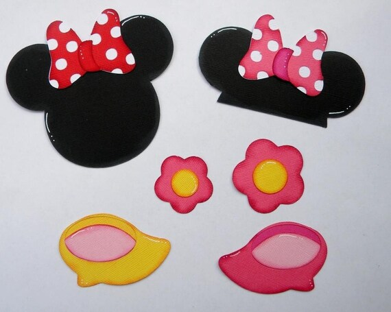 Craftecafe Minnie Mouse Accent Paper Piecings For Premade Scrapbook