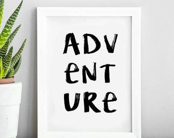 Adventure Travel Quote | Typography Print