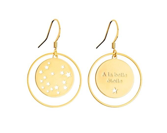 Pair of earrings footprint star EM5B0 / Valentine's day