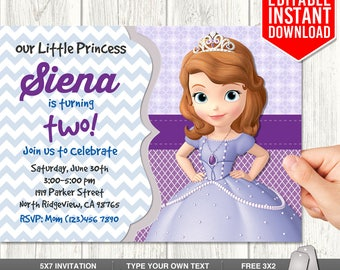 Sofia The First Birthday Invites Image Collections Invitation - Sofia the first invitation template