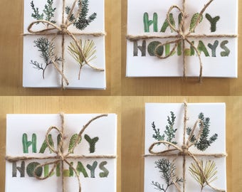 Card Sets Holiday Cactus // Evergreens