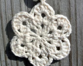 Cream Crochet Flower Garland