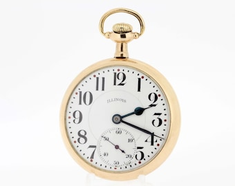 Gold Filled Illinois Pocket Watch 17 Jewel