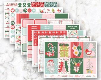 Vintage Christmas Weekly Planner Sticker Kit