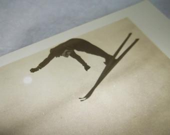 Vintage Olympian TOM MOBRAATEN Skiing Postcard • unused • RPPC