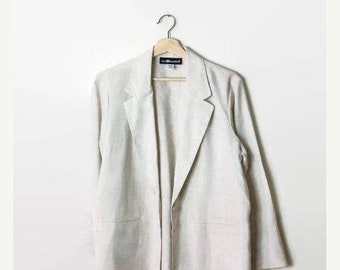 ON SALE Vintage Simple Cream/Off white Slouchy Blazer/Cardigan from 90's*