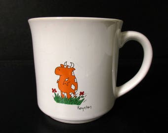 Boynton Coffee Mug, Boynton Outstanding Mug, To Someone Who Is Outstanding In The Field, Recognition Humorous Gift Idea, Cow in Field