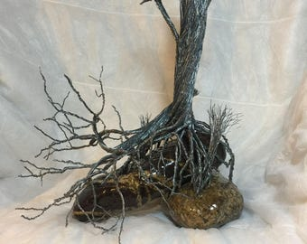 Wire Tree - Broken Tree with Broken Limb