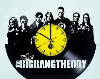 Big Bang Theory Handmade Vinyl Record Wall Clock Fan Gift