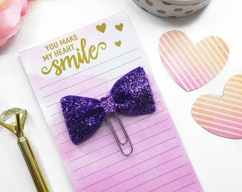 Lilac Glitter Paperclip / Planner Paper Clip / Lilac Glitter Planner Clip