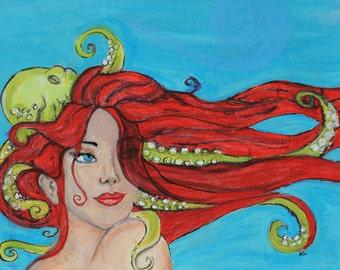 Under the Sea 8x10 Original Acrylic Painting