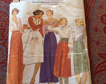 1980s Butterick Skirt Pattern