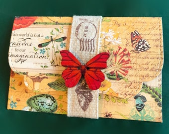 Butterfly garden   gift card holder / envelope   message card   DIY coupon   voucher holder   invite   note