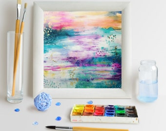 Giclee art print of mixed media canvas