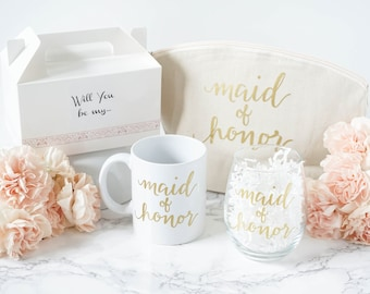 Will you be my Bridesmaid Gift Box - Maid of Honor Gift Set - Bachelorette Party Gift Idea - Bridesmaid Proposal Gift Box - Team Bride Gift