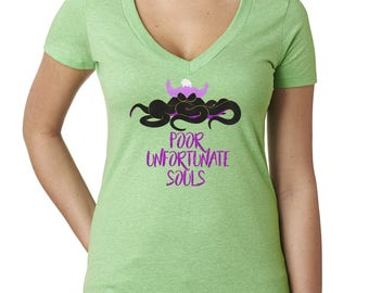 Poor Unfortunate Souls - Ursula Shirt - Disney Villains Shirt - The Little Mermaid - Disney Ladies Shirts - Disney V Neck
