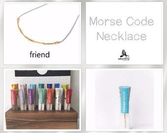 Friend Morse Code, Morse Code Necklace, Morse Code Friend Necklace, Necklace Morse Code, Morse Code Necklace Friend, Morse Code