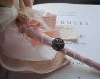 Handmade Fabric Bouquet * Vintage Fabric Flowers * Wedding Ideas *  Bridal Bouquets * Housewarming * Original Designs *