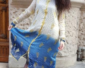 Vintage ethnic long dress original from '80 Cod. 3-14