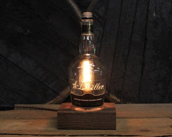 W. L. Weller Bourbon Bottle Lamp Perfect Gift For Guy Friend, Gift For Him, Man Cave Gift, Gift For Brother In Law, Father's Day Gift
