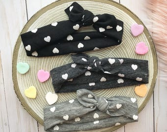 Valentine's Day Exclusive Top Knot Headbands | three colors