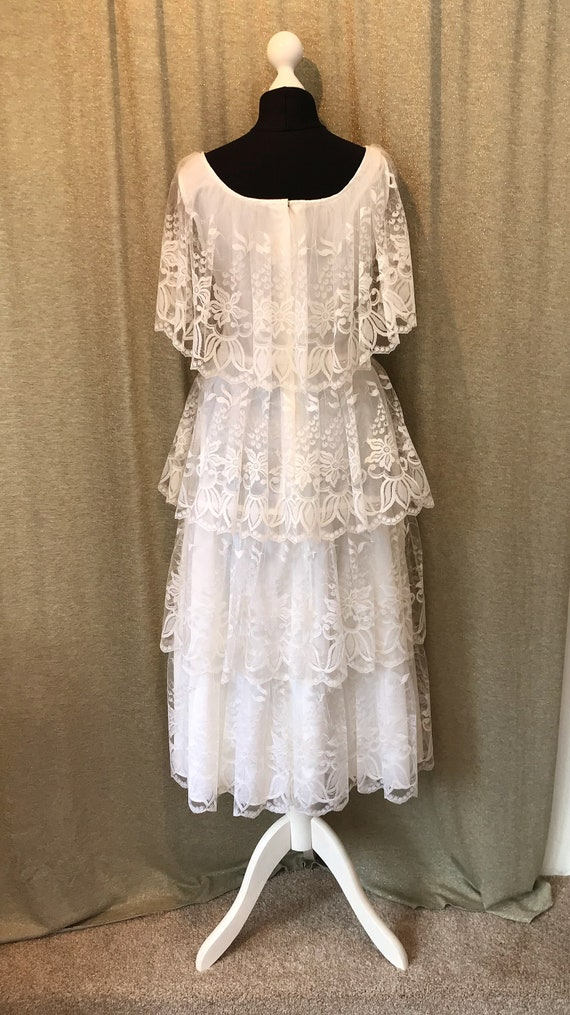 Gypsy Boho Dress Lace US Wedding size 6 Style Vintage 10 Short Layered UK qUXgwxcdO