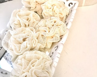 Linen Flowers, for your wedding project
