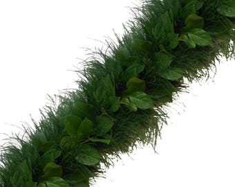 Fresh Handmade Garland with Tree Fern & Salal