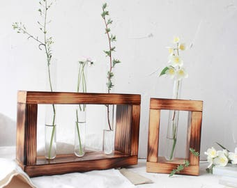 Bud Vase, Test Tube Vase, Flower Vase, Test Tube Rack, Test Tube Holder, Plant Stand, Flower Stand, Test Tube Stand, Minimalist Vase