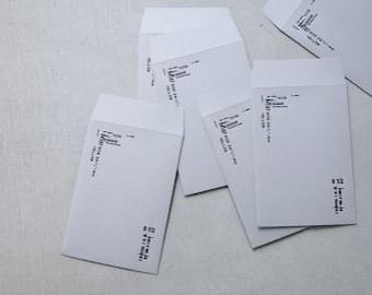 Yohaku Original Japanese Letterpress Paper Envelopes M-04