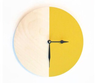 Wooden Wall Clocks,  Yellow Home Decor, Decor and Housewares, Home and LIving