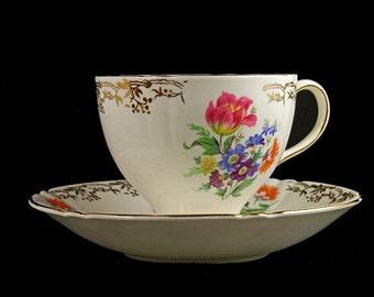 Teacup and Saucer, Old Royal Bone China