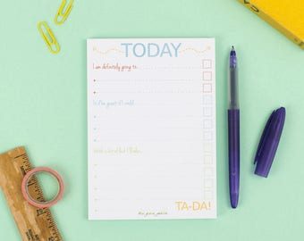 List Note Pad, Today I Am Going To… – To Do List – Planner – Organiser – Shopping List – Eco Friendly Stationery