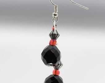 Black and Red Dark Earrings