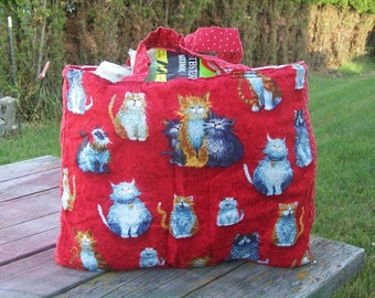 Cats Tote Bag Reusable Grocery Bag Ready to Ship Shopping Bag Love for Cats