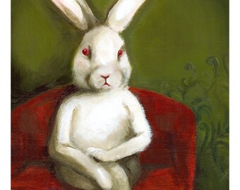 "White Rabbit art - ""Edgar"""