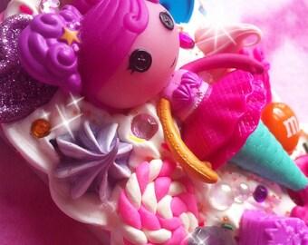 SALE! Lalaloopsy Mermaid iPhone 4 Case // Lalaloopsies decoden cabochon sweets kawaii candy