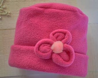 Pretty in pink girls' hat