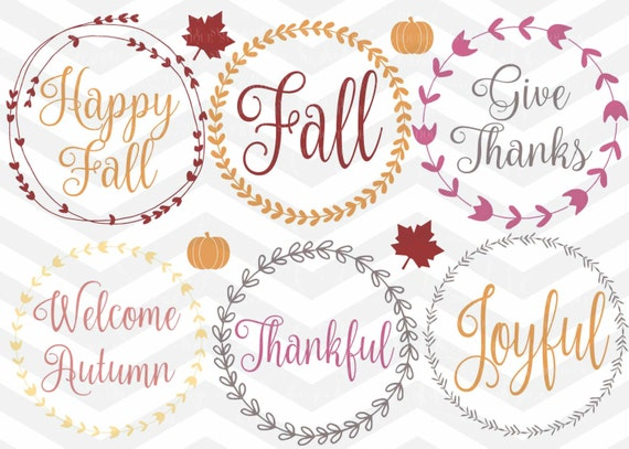 Items Similar To Fall Wreath Svg File Fall Quote Svg