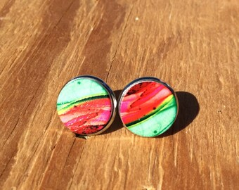 You're one in a Melon: Wood Earrings