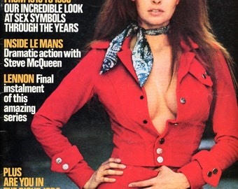 Magazine  Club  Sexy Raquel Welch Cover  British Mag from 1971    Sex Symbols 1910 to 1980  Steve McQueen mature Interview: John Lennon